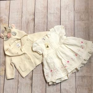 NWT Baby Gap dress and adorable sweater